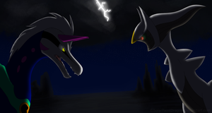 The King VS The God by SolarPaintDragon