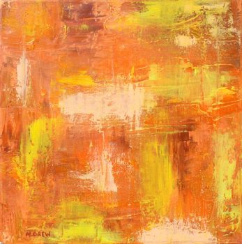 Orange Abstract Oil by marygrew