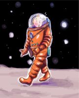 Tintin on the Moon by Foxsnout45