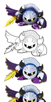 Meta Knight Vector Drawing by Juliannb4
