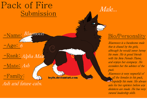 Pack of Fire: Bluemoon by BlackWolf1112-ADOPTS