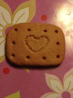 Heart Cookie (or cracker) by WISH4000