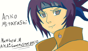 Drawing Anko with Table on Damuro by gamemaster8910