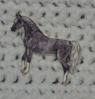 Arabian Horse Dapple Grey soon to be Necklace by LilWolfStudios