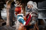 The Witcher - Triss and Geralt by Fenyachan