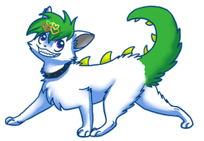 dinokitty ouo by BakaMichi