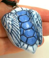 Winged Blue Turtle Shell by CatharsisJB