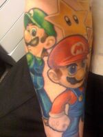 WIP Mario Sleeve 11 by melsea3108