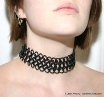 Black Rubber Goth Choker by Utopia-Armoury