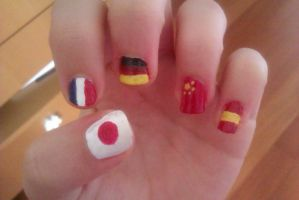 Country nails~Hetalia! by LadyEdile