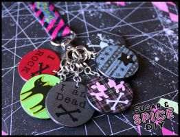 HARD CANDY Handmade Wooden Keychains by wickedland