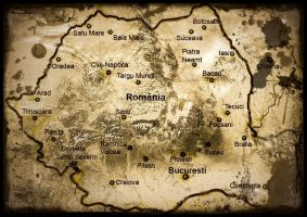 Romania Map Vintage Photo by Zaigwast