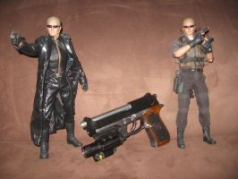 Hot Toys Albert Wesker figures with Samurai Edge by Demon-Lord-Cosplay