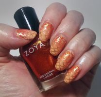 2015-02-28 Goldfish Scales by m-everhamnails