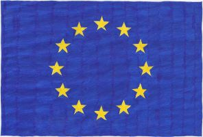 Hand-drawn flag of the European Union by cool1097