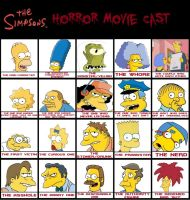Jefimus' Simpsons Horror movie cast by JefimusPrime