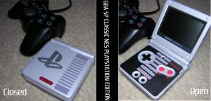 GBA SP Classic NES PS Edition by timesplitter88