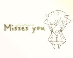 Missing You Wallpaper by MegaBleachy