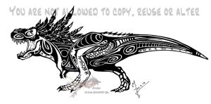 Feathered Tribal T-Rex by Arixona