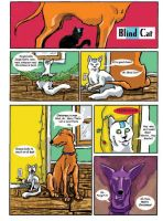Blind Cat comic late Christmas by TabrisGhost