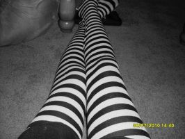 Striped tights by vampirekisses13