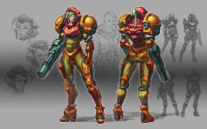 Samus Aran Redisign by MorganHowell