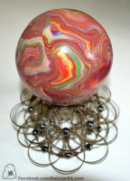 Hand Sculpted Contact Juggling Ball by Dabstar