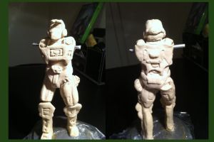 WIP: Master Chief Statue by ENTITY-JS