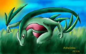 Grovyle by Ashelinka
