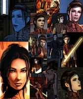 Collage of Bastila Shan by LadyIlona1984