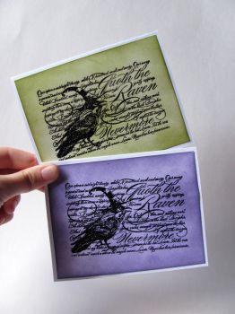 Quoth the Raven Notecards by dreamycards