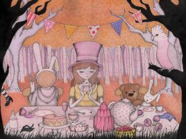 The Tea Party by luciediamonds