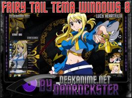Lucy Heartfilia Theme Windows 8 by Danrockster