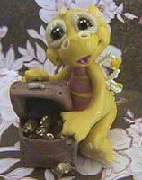polymer clay dragon lucky by crazylittlecritters