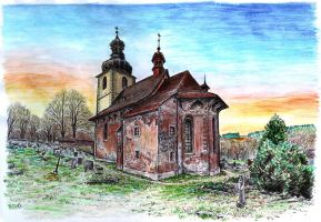 Church of St James in Dolni Olesnice by neral85