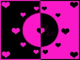 A World of Hearts BlackandPink by sixthkidfromthestarz