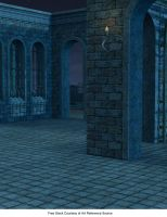 FREE STOCK Castle Walls at Night Background by ArtReferenceSource