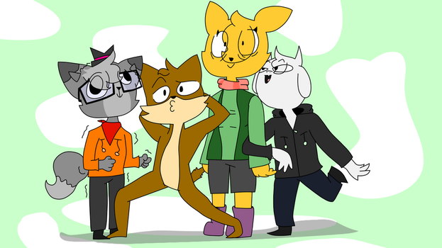 The Huskie Squad (Trace-over) by Joshiriah