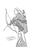 Legolas and Thranduil by Potter-Whovian-LOTR
