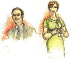 Mad Men- Joan and Guy by suburbanbeatnik