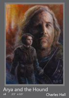 Arya and the Hound by charles-hall