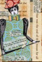 Talk Of The Town ATC by LauraTringaliHolmes
