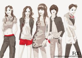 FX  with shinee pose by EverKiss