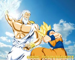 Battle Of Gods - Zeus VS Goku by Yazuda