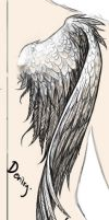 Wings - tattoo commission by Devilry