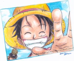 Luffy - One Piece by FrostyNightSky