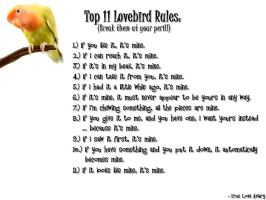 Lovebird Rules 1 by JRigh