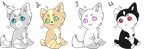 Kitty Adopts Batch One by Vorxs-Adopts