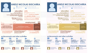 studies - resume in pink and brown by iAmAneleBiscarra