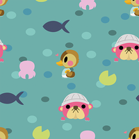Animal Crossing Water Pattern by Torotix